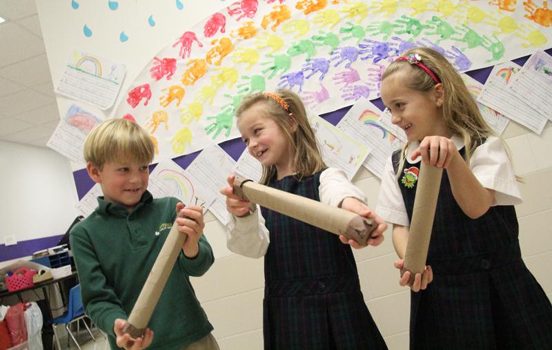 St Patrick School rainsticks