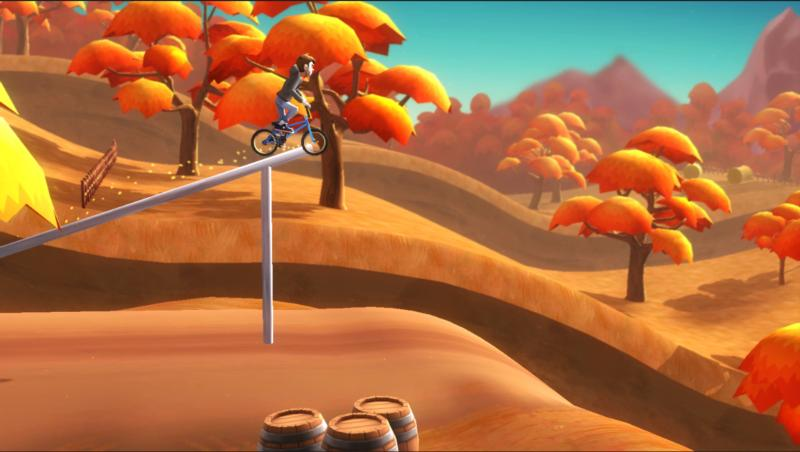 "This is an image from the video game ""Pumped BMX."" (CNS photo/Yeah Us!)"
