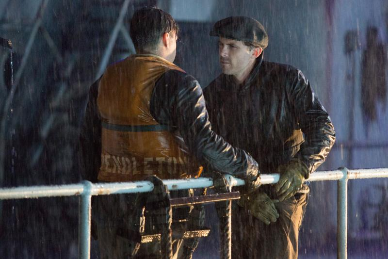 "Casey Affleck and Michael Raymond-James star in a scene from the movie ""The Finest Hours."" (CNS photo/Disney)"