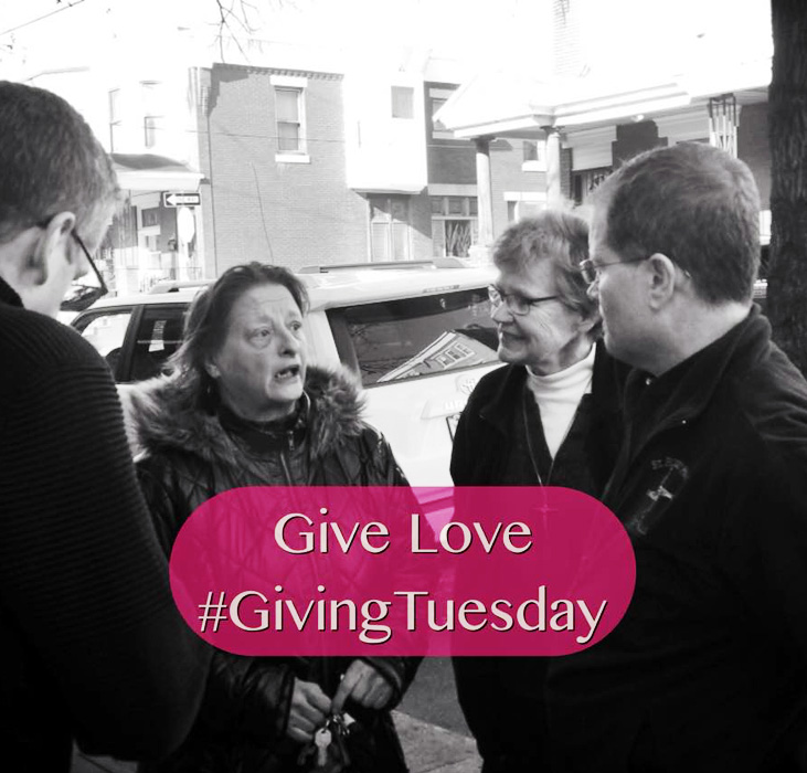 Mother of Mercy House uses the hashtag GivingTuesday to get the word out as they reach out to the community in Kensington.