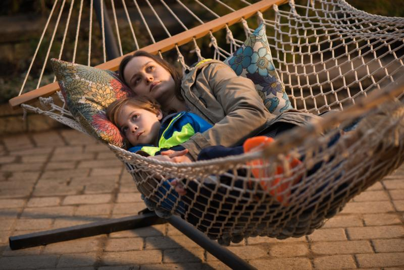 "Jacob Tremblay and Brie Larson star in a scene from the movie ""Room."" (CNS photo/courtesy A24)"