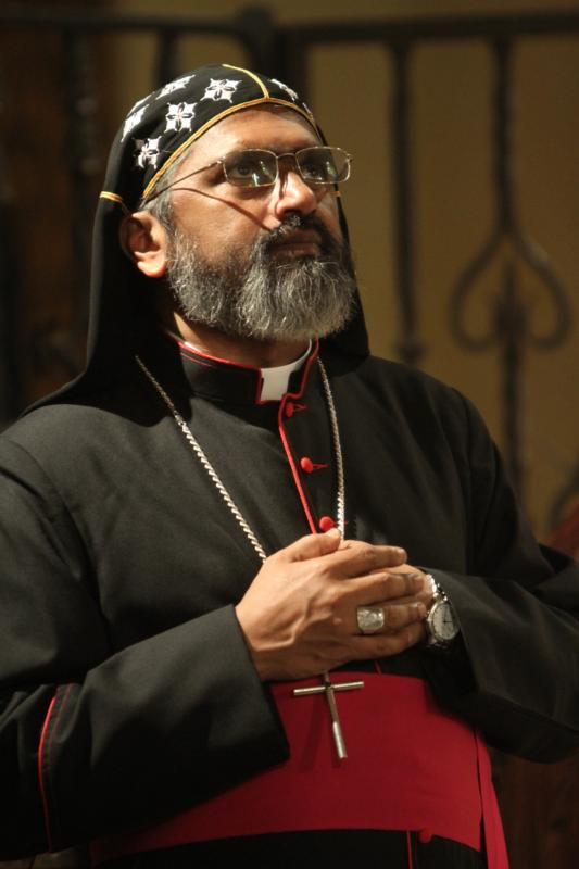 Syro-Malankara Bishop Thomas Eusebios Naickamparambil is seen during a service in 2013 at  Immaculate Conception Seminary in Huntington, N.Y. On Jan. 4 Pope Francis appointed Bishop Naickamparambil the first bishop of the newly erected eparchy of St. Mary, Queen of Peace, of the U.S. and Canada. (CNS photo/Gregory A. Shemitz)