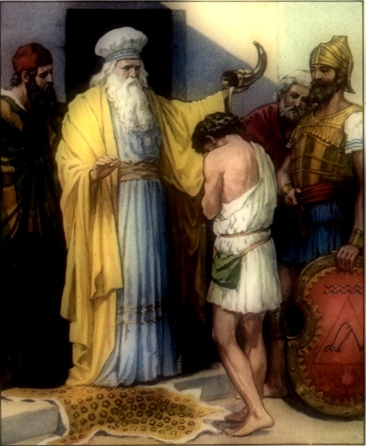 Samuel anointing David