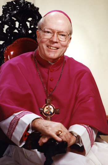 Retired Archbishop Francis B. Schulte, who served as the 12th archbishop of New Orleans from 1988 to 2002, died Jan. 17 at age 89 after several weeks in hospice care at Mercy Fitzgerald Hospital in Darby, Pa. He is pictured in a photo at the time of his ordination as bishop in 1981 in Philadelphia. (CNS files)