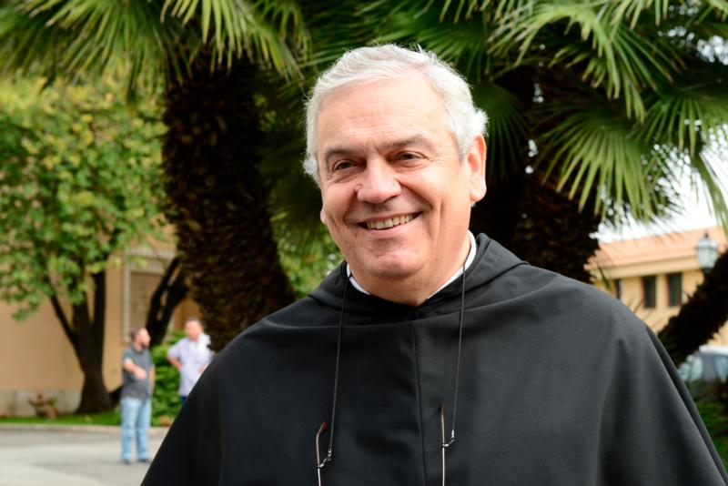 Servite Father Ermes Ronchi, an Italian theologian, has been asked by Pope Francis to lead the pope's annual Lenten retreat in Ariccia, a town about 20 miles southeast of Rome. Father Ronchi is pictured in Rome in this Sept. 29, 2012, file photo. (CNS photo/Cristian Gennari)