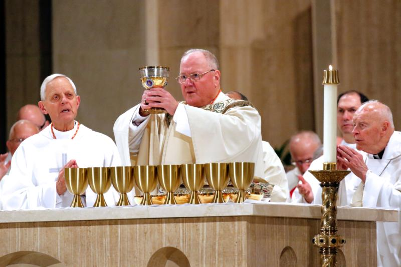 New York Cardinal Timothy M. Dolan, chairman of the U.S. bishops' Committee on Pro-Life Activities, celebrates the opening Mass of the National Prayer Vigil for Life at the Basilica of the National Shrine of the Immaculate Conception in Washington Jan. 21.(CNS photo/Gregory A. Shemitz)