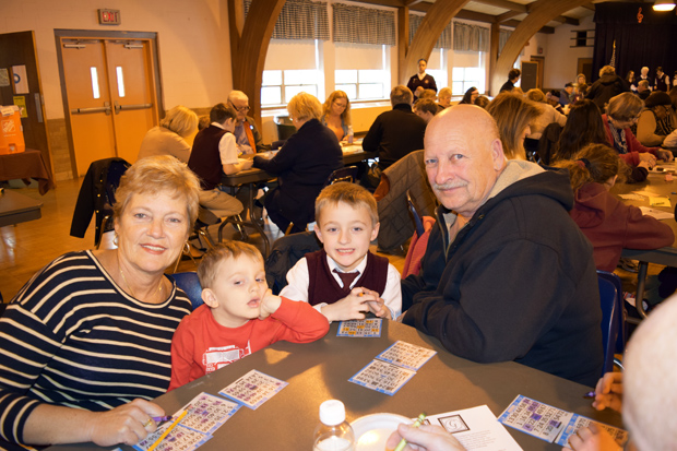 Guests enjoy Grandparents Day at Good Shepherd School, Ardsley, Feb. 4.