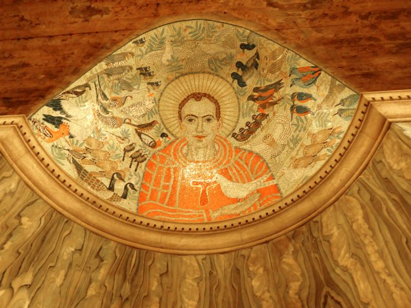 St. Francis of Assisi, patron saint of ecology, is depicted in mosaic at Westminster Cathedral in London. Not all of us are called to become clones of St. Francis, though there is much about his life that we all would do well to reflect on. (CNS photo/Mike Nelson)