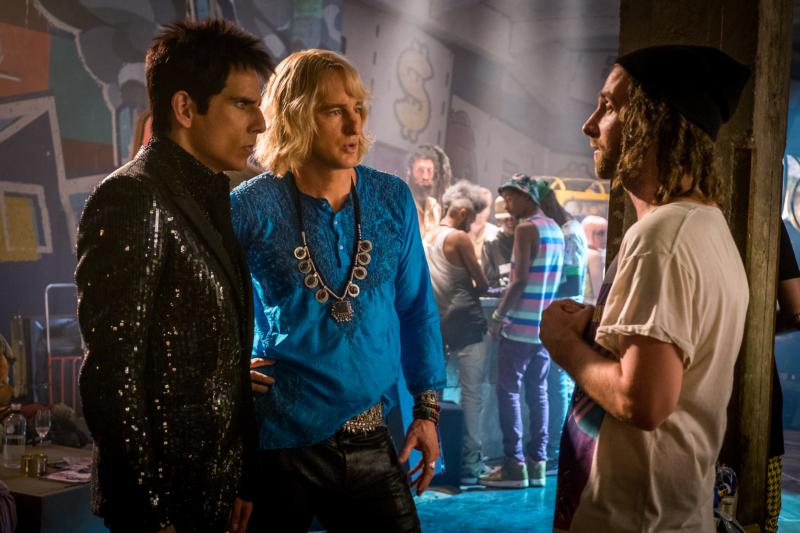 "Ben Stiller, Owen Wilson and Kyle Mooney star in a scene from the movie ""Zoolander 2."" (CNS photo/Paramount)"