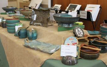 Tom Longacre's functional stoneware is included in the Malvern Retreat house Art Show.