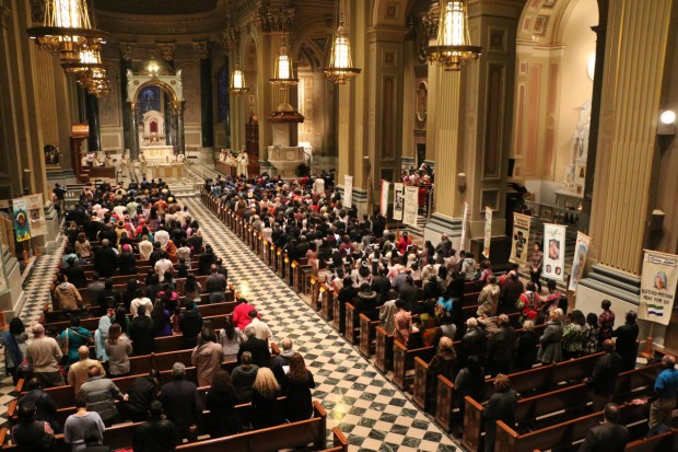 The Cathedral Basilica of SS. Peter and Paul hosts the 19th annual Cultural Heritage Mass. (Mark A. Cordero)