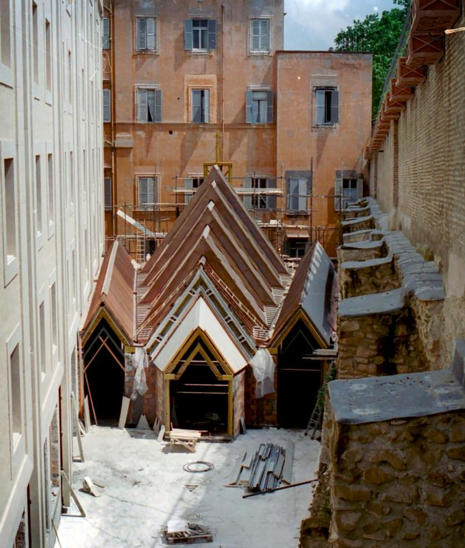 The Chapel of the Holy Spirit in Rome is seen under construction in this undated photo. (CNS photo/courtesy of Astorino)