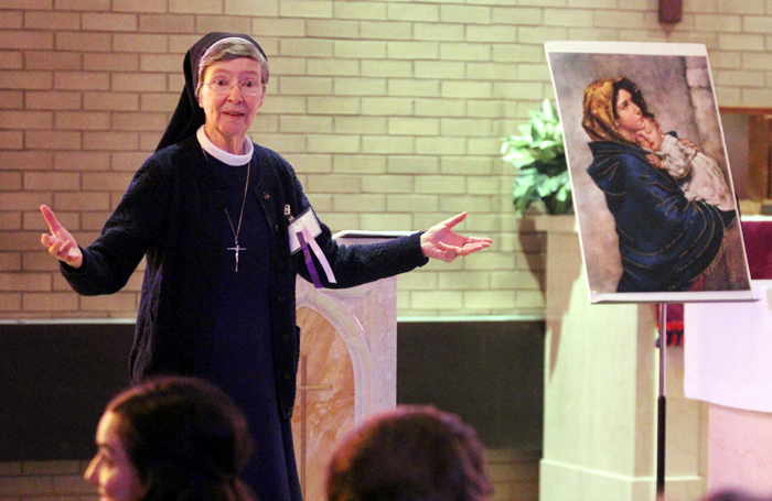 Sr. Sheila Galligan, IHM presents on Mary, Star of Evangelization.