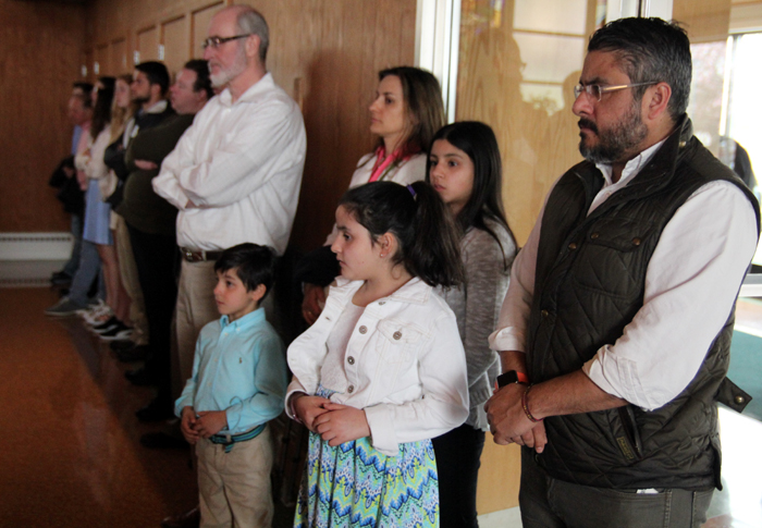 It was standing room only at Saint Rose of Lima Chruch in Norht Wales for Easter Sunday mass at 11:30a.m..