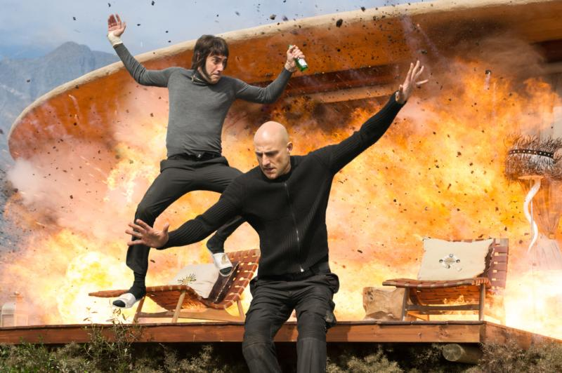 "Sacha Baron Cohen and Mark Strong star in a scene from the movie ""The Brothers Grimsby."" (CNS photo/Sony Pictures)"