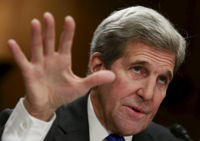 U.S. Secretary of State John Kerry seen on Capitol Hill in Washington, Feb. 23. (CNS photo/Yuri Gripas, Reuters)