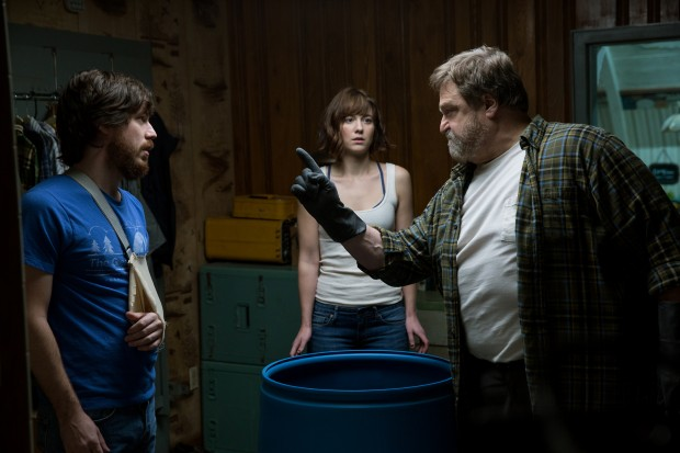 "John Goodman, Mary Elizabeth Winstead and John Gallagher Jr. star in a scene from the movie ""10 Cloverfield Lane."" (CNS photo/Paramount Pictures)"