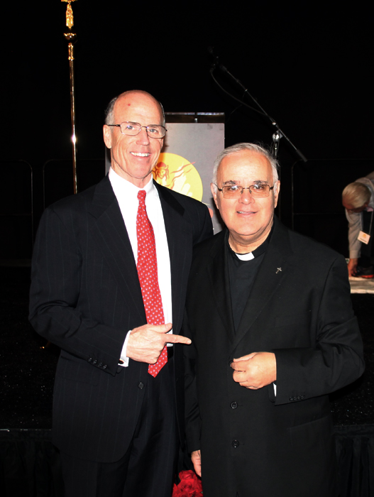 Eustace Mita and guest speaker Fr. George Grima
