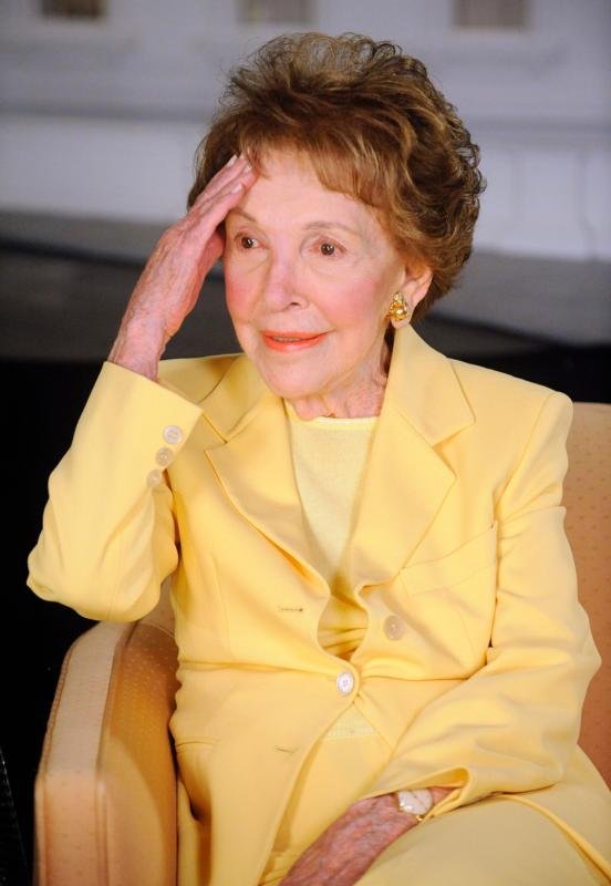 Former first lady Nancy Reagan is seen at the Ronald Reagan Presidential Library in Simi Valley, Calif., in this March 17, 2010, file photo. She died March 6 at age 94.  (CNS photo/Phil McCarten, Reuters)