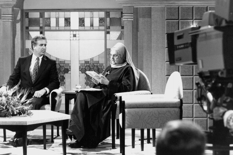 Mother Angelica, founder of the Eternal Word Television Network, is pictured in a 1992 photo.(CNS files)