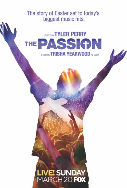 "This is a poster from ""The Passion,"" a two-hour, live musical event being broadcast by Fox from New Orleans on Palm Sunday, March 20. The Scripture-based narrative, written by Peter Barsocchini, will unfold live on a stage erected in the city's Woldenberg Park and through a series of pre-taped segments broadcast on the stage's jumbo screen. (CNS photo/courtesy Clarion Herald)"
