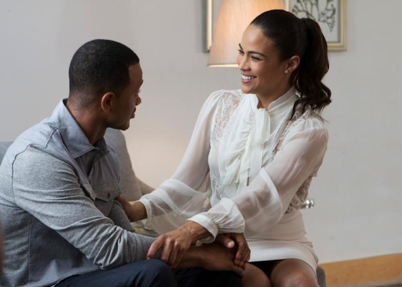 "Terrence Jenkins and Paula Patton star in the movie ""The Perfect Match."" (CNS photo/Lionsgate)"