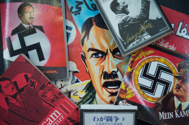 Images of Adolf Hitler are seen at an art festival in Weimar, Germany, in this Aug. 31, 2015, file photo. (CNS photo/Sebastiana Kehnert, EPA)
