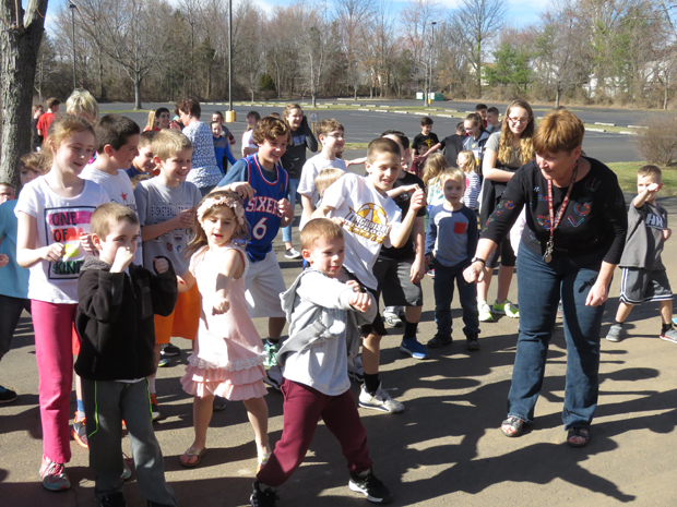 St. Joseph/St. Robert School students dance to fight childhood cancer.