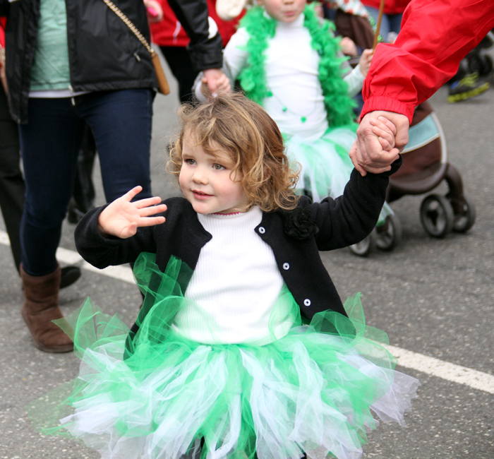 Reagan Kuczynski from Saint Joseph Church in Orefield in the Allentown Dicoese traveled to march in the Saint Patrick's Day Parade.