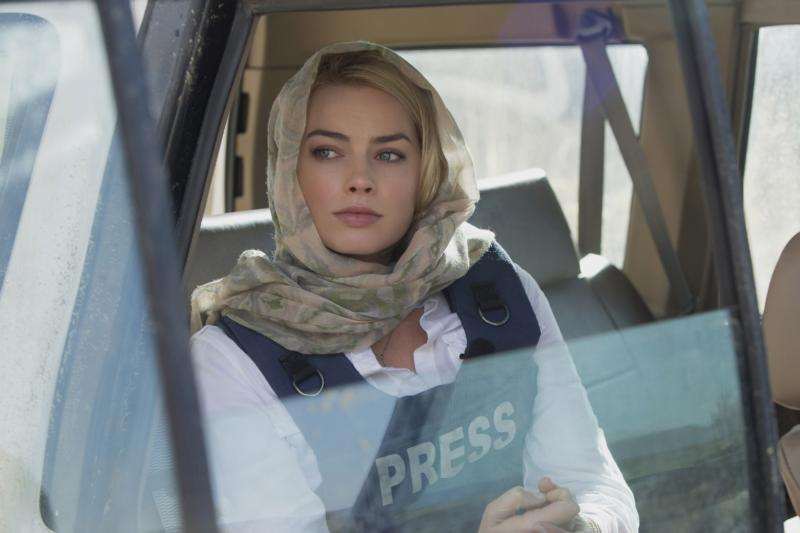 "Margot Robbie stars in a scene from the movie ""Whiskey Tango Foxtrot."" (CNS/Frank Masi, Paramount Pictures)"
