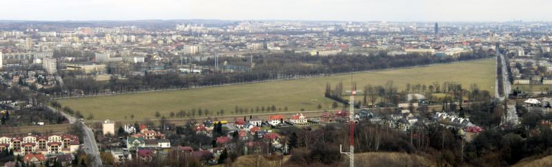 Blonia Park is seen in an undated photo from the Kosciuszko Mound in Krakow, Poland. The park will be one of the major gathering spots for World Youth Day pilgrims during the July 26-31 festival, and security officials in Poland are working to ensure participants are safe throughout the event. (CNS photo/courtesy WYD)