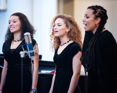 "A biracial group of singers performs March 3 during the ""Black & White in America: How Deep the Divide?"" conference at Samford University in Birmingham, Ala. (CNS photo/Mary D. Dillard, One Voice)"