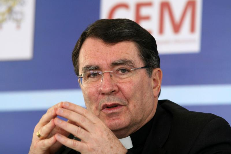 Archbishop Christophe Pierre, apostolic nuncio to Mexico since 2007, has been appointed the new apostolic nuncio to the United States. Archbishop Pierre is pictured during a press conference regarding the visit of Pope Benedict XVI in Leon, Mexico, in this March 19, 2012, file photo. (CNS photo/Mario Armas, Reuters)
