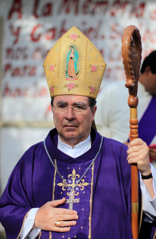 Archbishop Christophe Pierre has been appointed the new apostolic nuncio to the United States. Archbishop Pierre is pictured celebrating a Mass for the families of missing students near Chilpancingo, Mexico, in this Dec. 22, 2014, file photo. (CNS photo/Jorge Dan Lopez, Reuters)