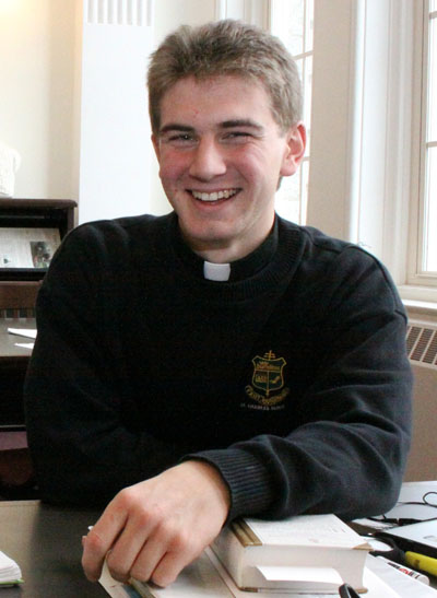 Rev. Mr. Matt Biedrzycki, who will be ordained a priest for the Philadelphia Archdiocese May 21. (Sarah Webb)