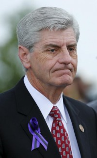 Mississippi Gov. Phil Bryant, pictured in a 2015 photo, signed a bill April 5 passed by the Senate March 30 known as the Religious Accommodations Act.  (CNS photo/Mike Blake, Reuters)