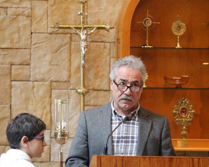 Philip Rai lectors at mass at Saint Maron Church in South Philadelphia.