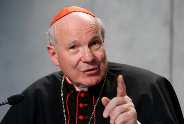 "Austrian Cardinal Christoph Schonborn speaks during a news conference for the release of Pope Francis' apostolic exhortation on the family, ""Amoris Laetitia"" (""The Joy of Love""), at the Vatican April 8. The exhortation is the concluding document of the 2014 and 2015 synods of bishops on the family. (CNS photo/Paul Haring)"