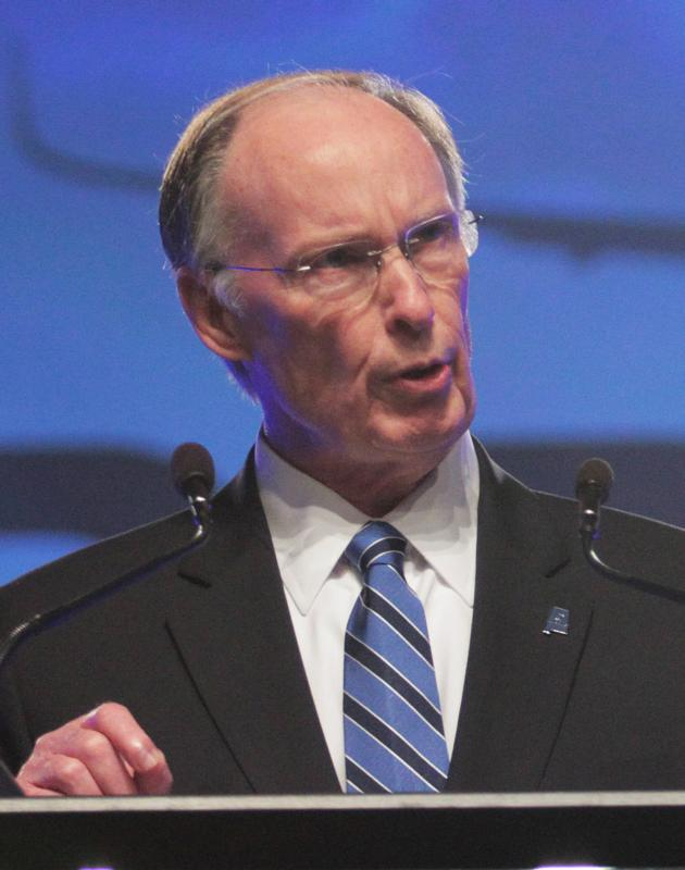 Alabama Gov. Robert Bentley is pictured in a 2012 photo. (CNS photo/Dan Anderson, EPA)