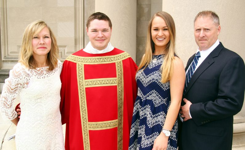 Deacon Matthew Brody with his sister and parents.