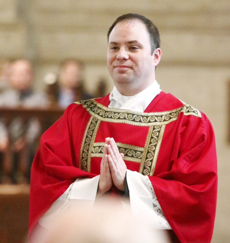 Newly ordained Deacon Brian Connolly