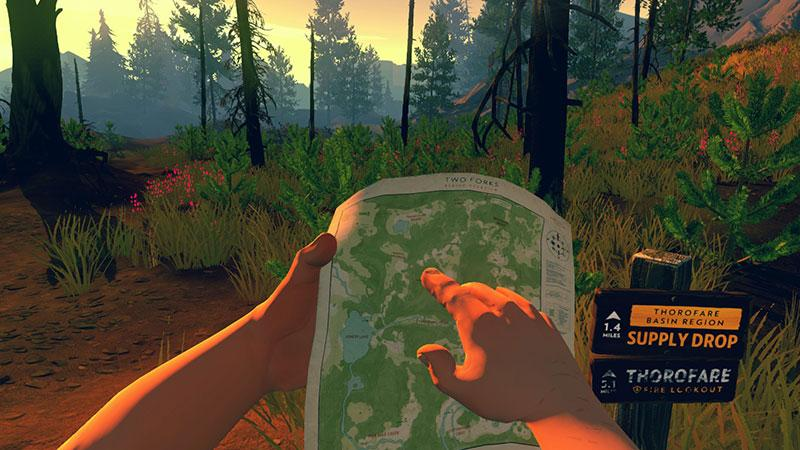 "This is an image from the video game ""Firewatch."" The Catholic News Service classification is A-III -- adults. The Entertainment Software Rating Board rating is M --— mature. (CNS photo/Campo Santo)"