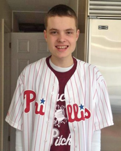 Jack Milligan enjoys going to a Phillies game.