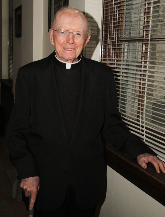 Father Charles Gormley, pastor emeritus of Mother of Divine Providence Parish, celebrates 65 years of being a priest.
