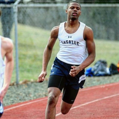 La Salle High School senior Winston Eubanks picked up running track at first as a way to become a better football player, but grew to love running. He will move on to Shippensburg University this fall. (Courtesy La Salle College High School)