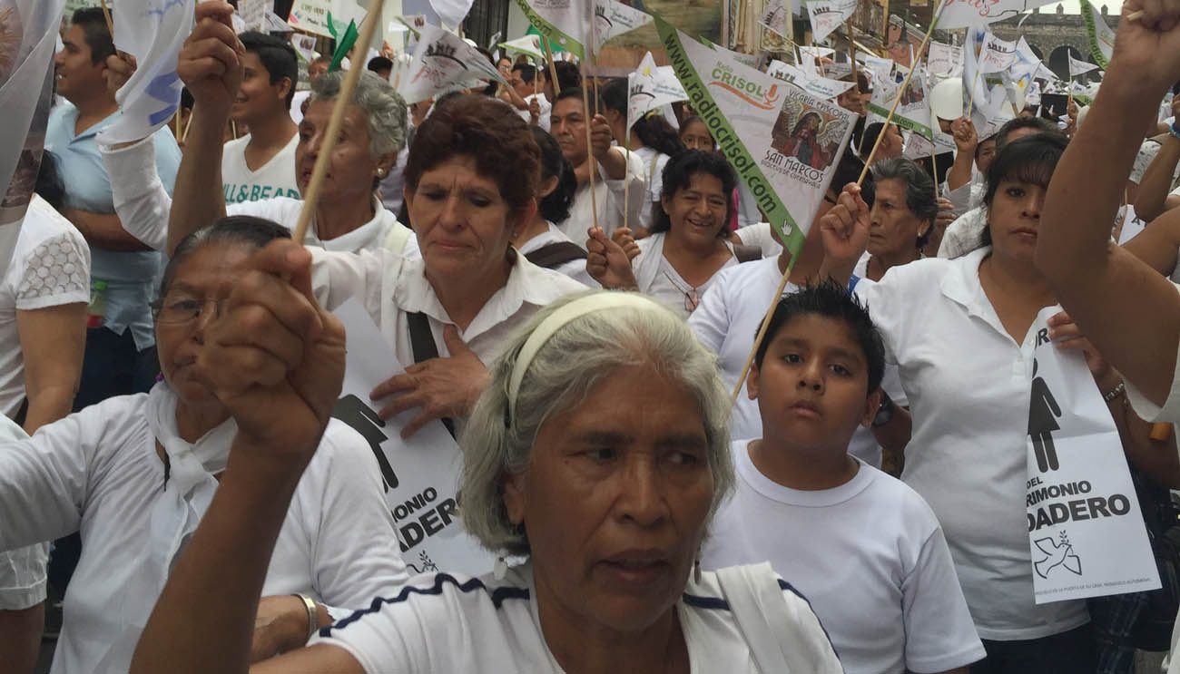 "People take part in a ""March for Peace"" May 21 to call for peace and increased security in the central Mexican state of Morelos. (CNS photo/David Agren)"