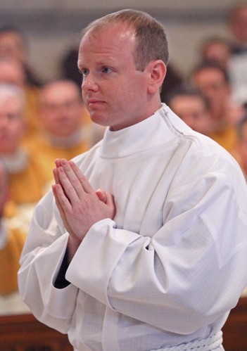Matthew Windle before his ordination as a transitional deacon in May 2015. He will be ordained a priest for the Philadelphia Archdiocese May 21 by Archbishop Charles Chaput. (Sarah Webb)