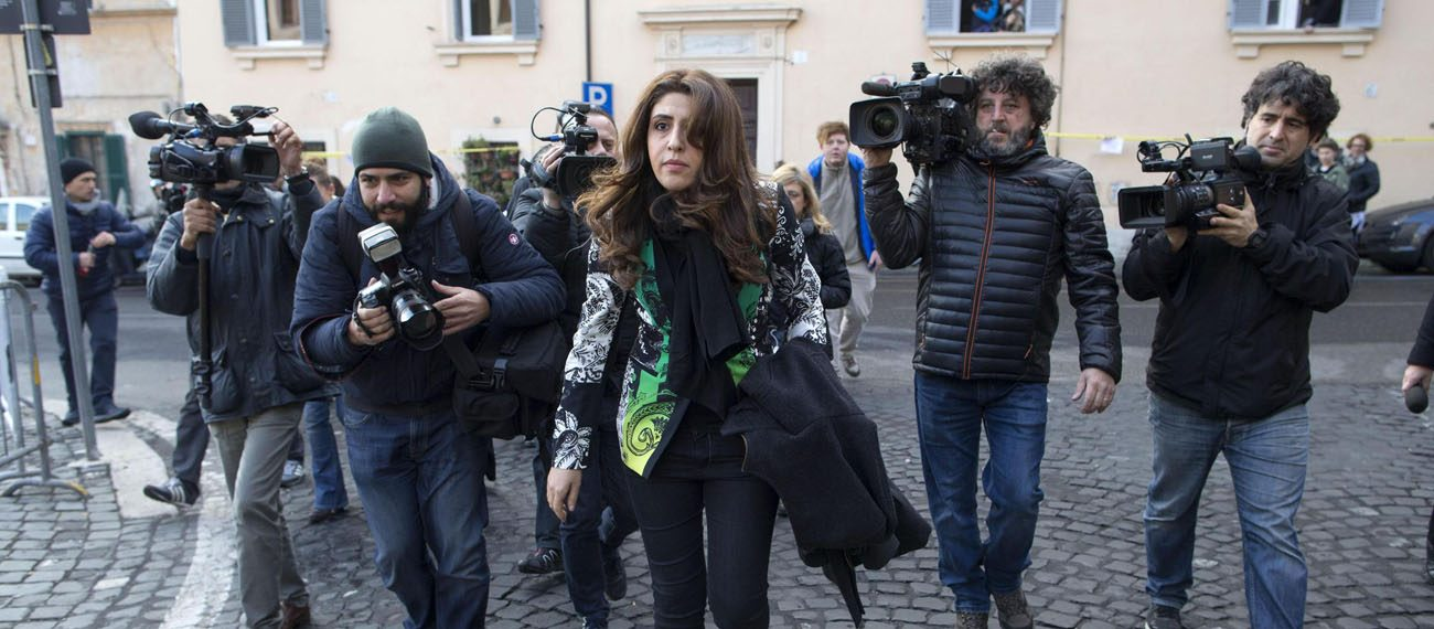 "Italian laywoman Francesca Chaouqui, a member of the former Pontifical Commission for Reference on the Organization of the Economic-Administrative Structure of the Holy See, arrives for the third hearing of the""VatiLeaks"" case at the Vatican in this Dec. 7, 2015 file photo. (CNS photo/Massimo Percossi, EPA)"
