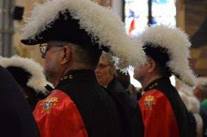 Knights of Columbus add a colorful and dignified presence to the congregation. (Roseanne Westerfer)