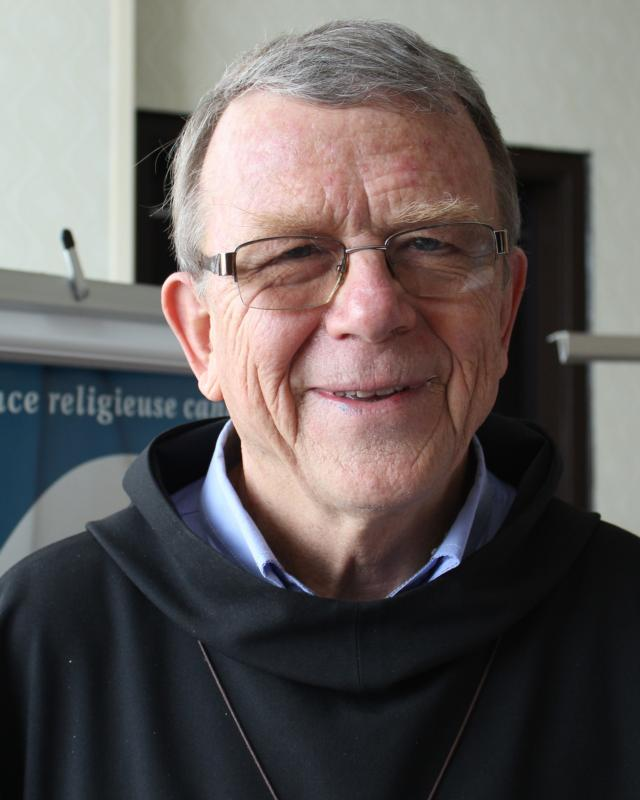 Benedictine Father Simon-Pierre Arnold is seen in Montreal May 27.  (CNS photo/Francois Gloutnay, Presence)